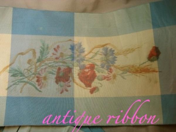 Vintage ribbon silk faille