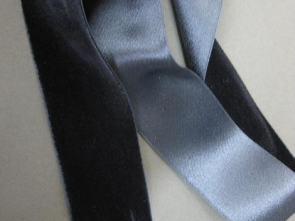 vintage silk velvet ribbon