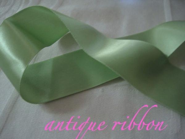 vintage green satin ribbon