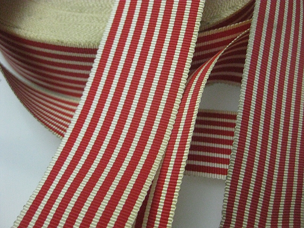 Red striped ribbon