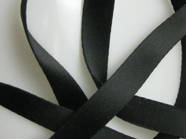 Rayon and cotton black ribbon