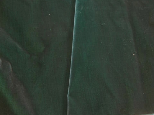 Antique velvet Victorian era forest green
