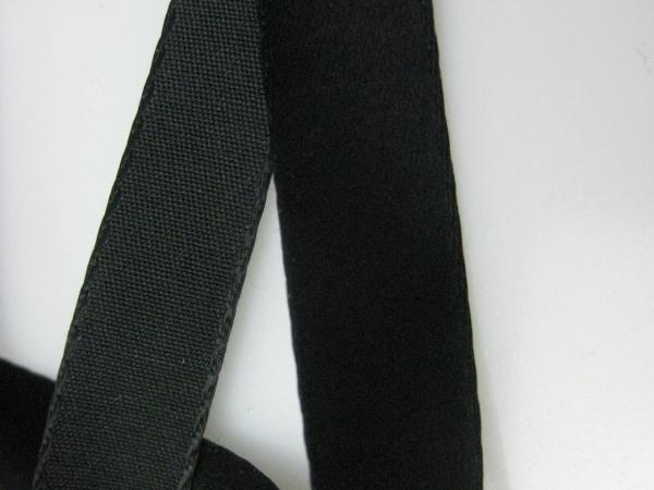 Narrow black ribbon