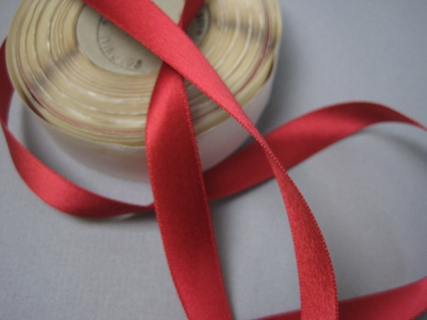 red ribbon half inch wide