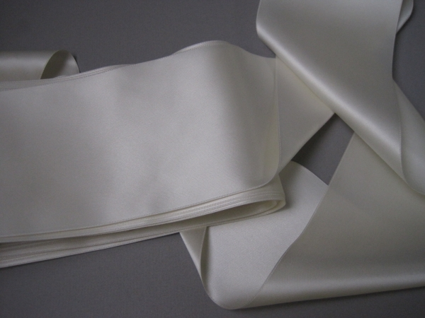 Creamy white wedding ribbon