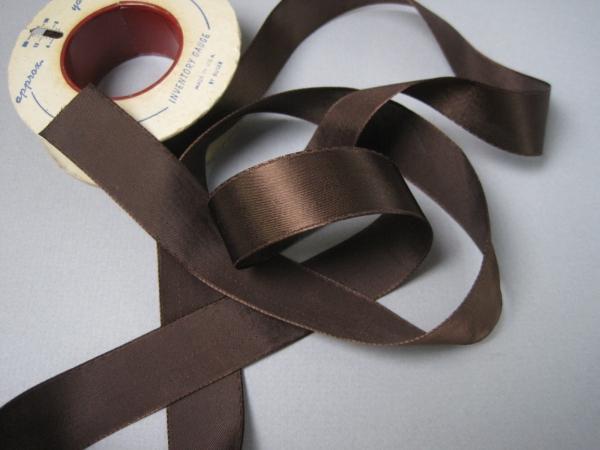 brown rayon ribbon