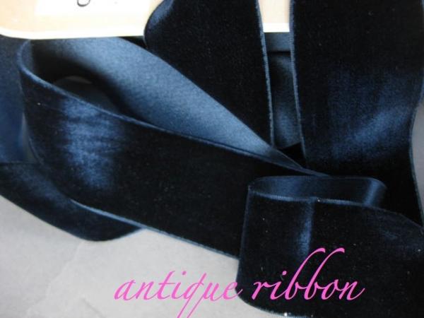 silk and cotton velvet ribbon