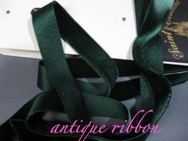 vintage French velvet ribbon