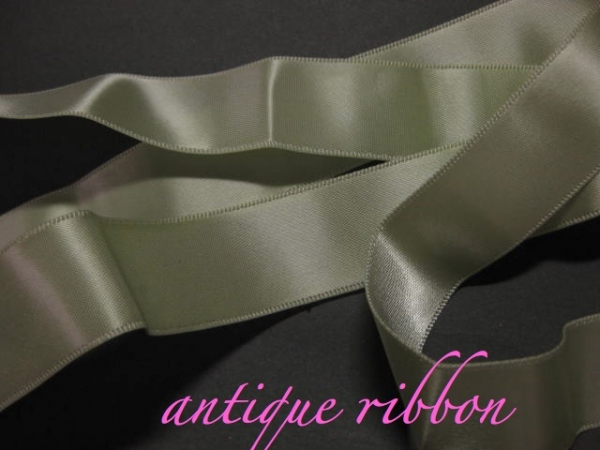 vintage ribbon green satin