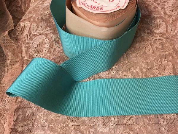 aqua petersham ribbon