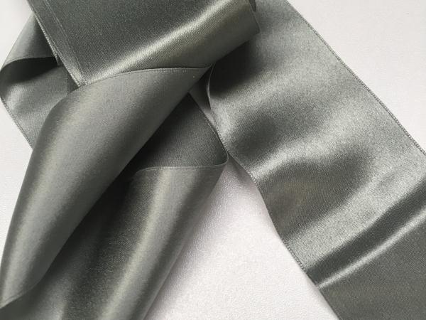 Victorian ribbon gray silk