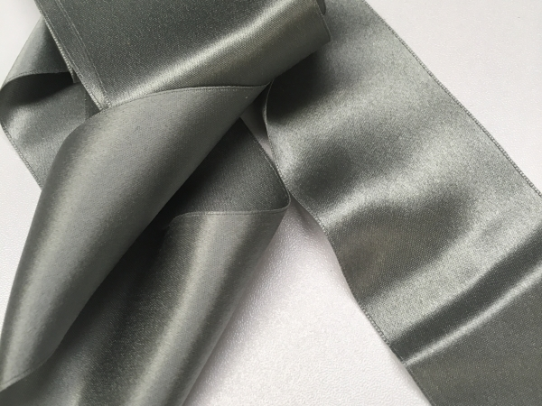 Victorian ribbon gray silk
