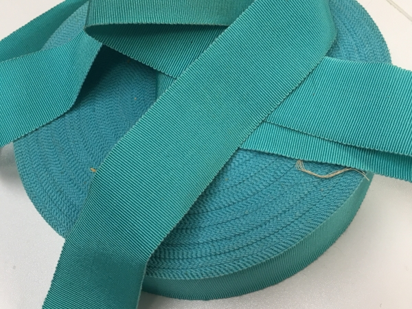 Aqua grosgrain ribbon