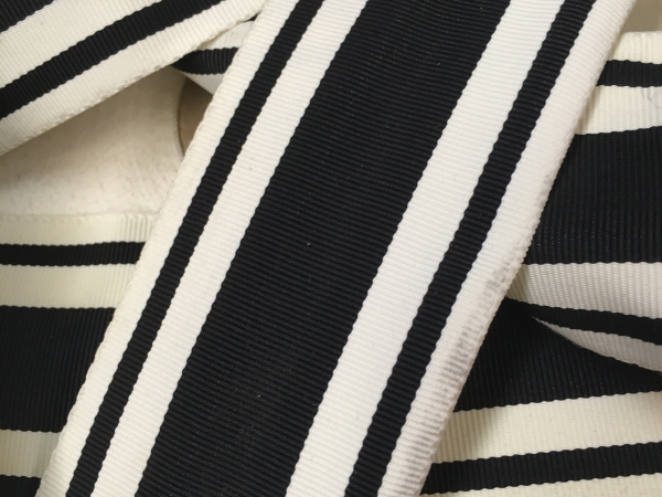 vintage striped gros grain ribbon
