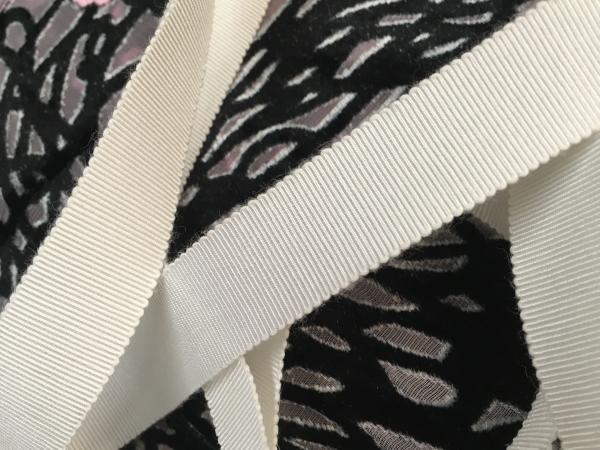 Rayon cotton white grosgrain ribbon