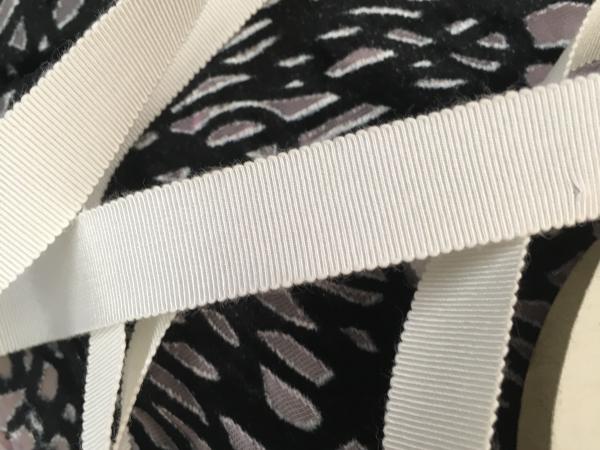 Vintage white grosgrain ribbon