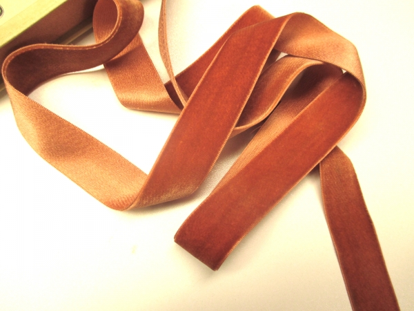 Antique French velvet ribbon