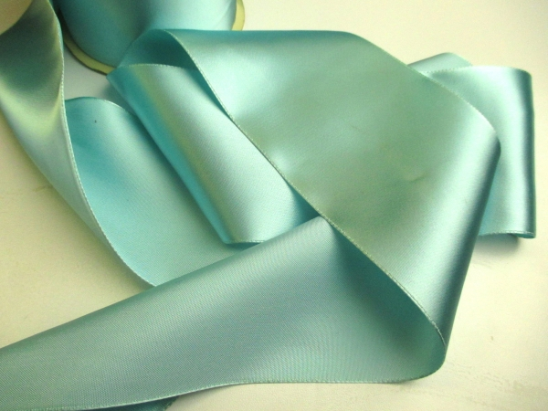 Rayon fabric ribbon aqua