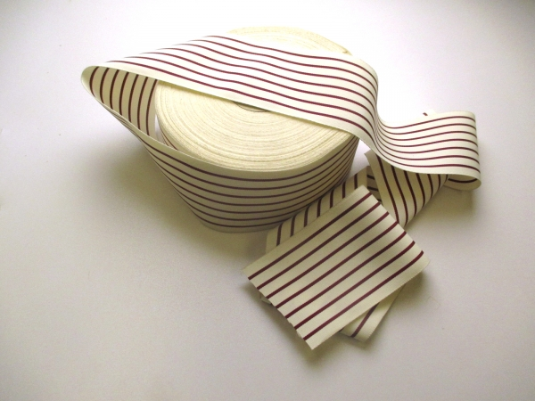 red white striped ribbon