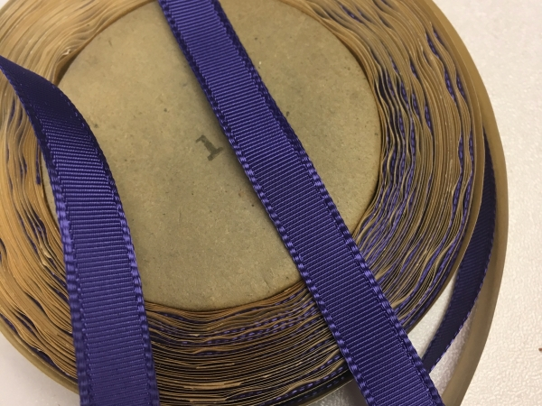 narrow ribbon, grosgrain ribbon, blue ribbon, purple ribbon