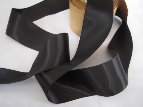 2 inch rayon black ribbon