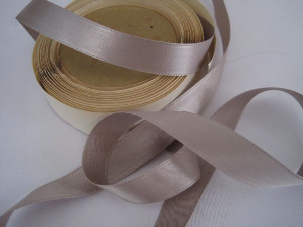 Warm gray satin ribbon