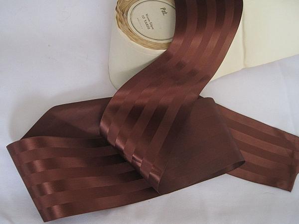 Rayon brown wide ribbon