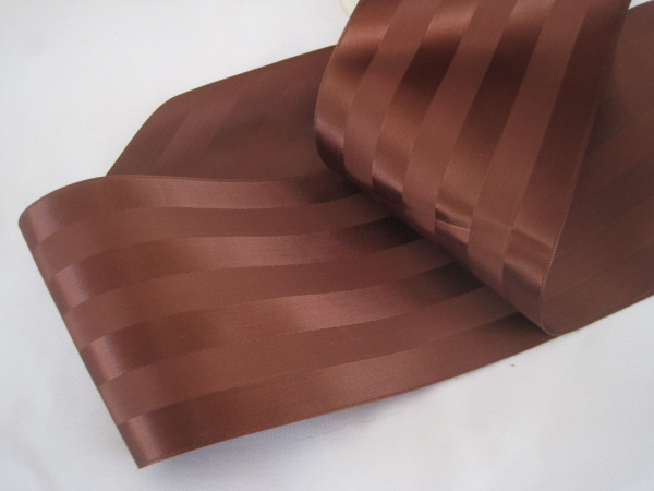 Wide brown ribbon