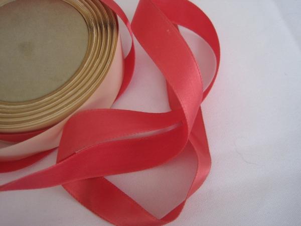 5/8 inch rose pink fabric ribbon