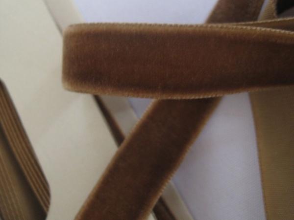 velvet ribbon taupe brown