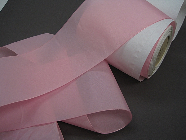 Wide pink ribbon