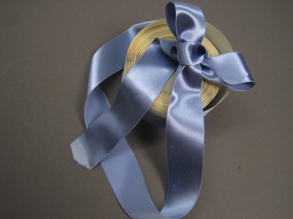 Rayon satin bow ribbon slate blue