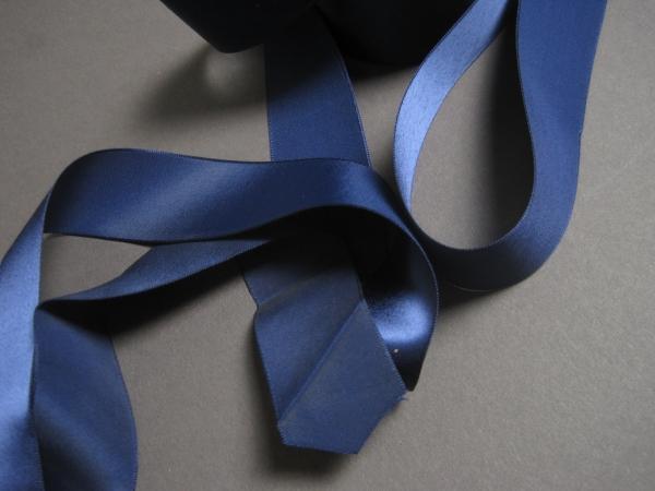 Navy blue vintage 30s ribbon