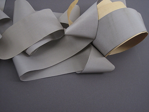 Gray silk faille ribbon
