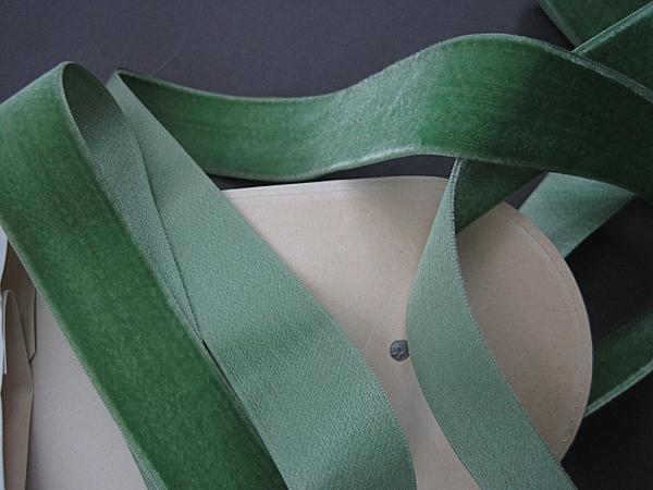 vintage 20s French  velvet ribbon