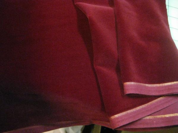 mid century cotton velvet fabric