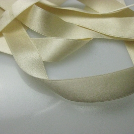 cream silk ribbon