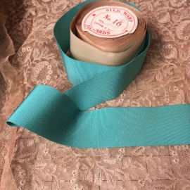 aqua petersham ribbon