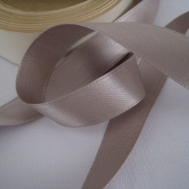 Gray satin ribbon