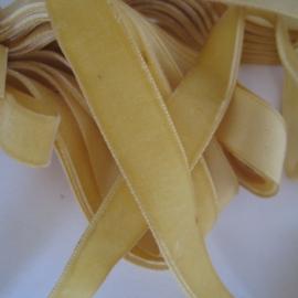 Velvet ribbon Maize yellow