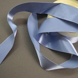 Vintage rayon satin blue ribbon
