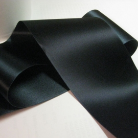 Vintage navy blue satin ribbon
