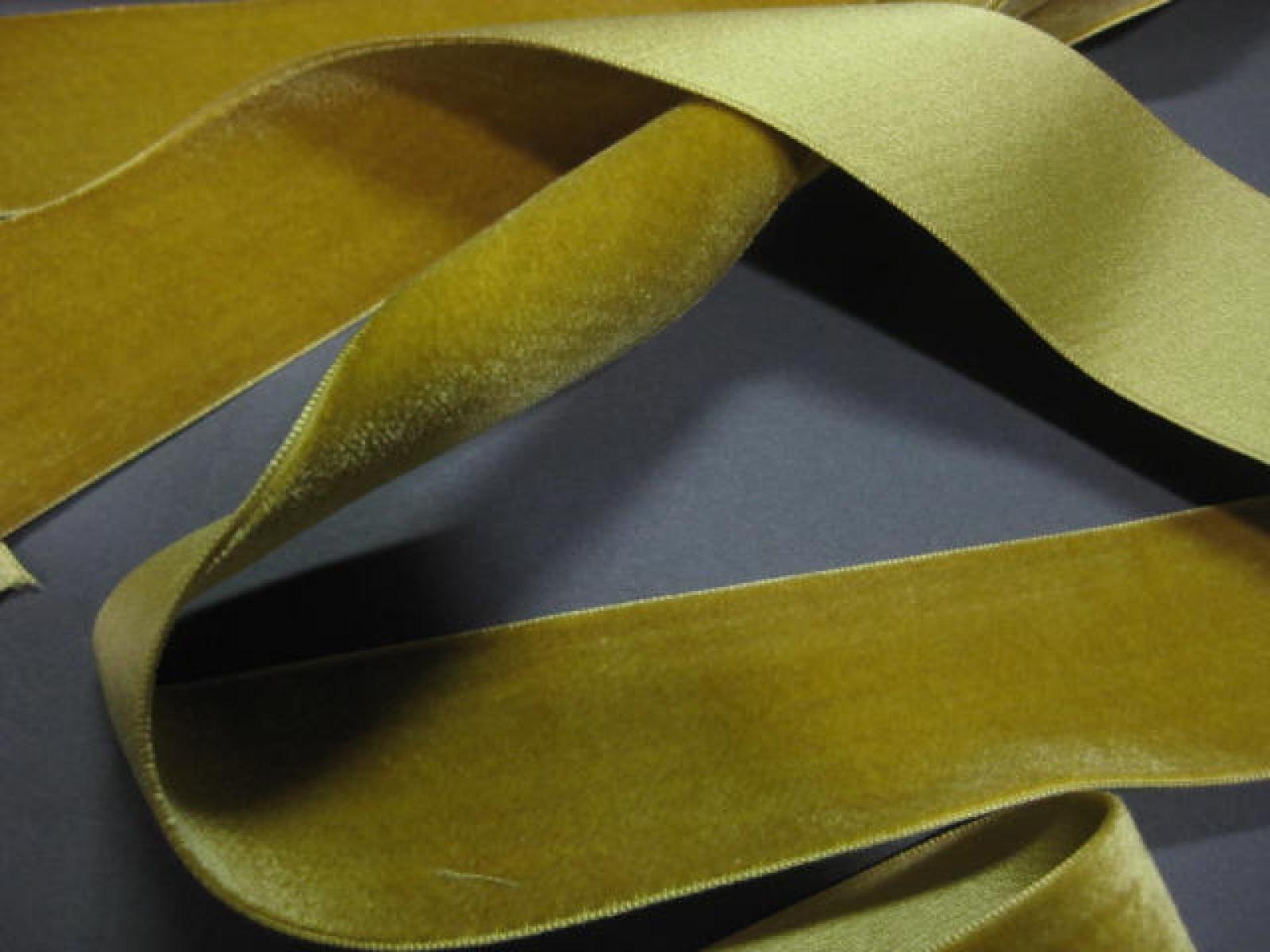 Vintage French Velvet Ribbon Silk W Cotton 1 1 2 Inch
