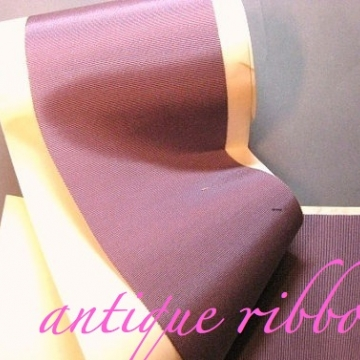 Vintage ribbon Edwardian era silk faille 4 inch lavender