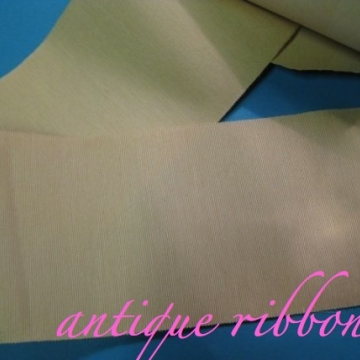 Vintage Ribbon Silk Taffeta Victorian era 2 1/4 inch cream Y82