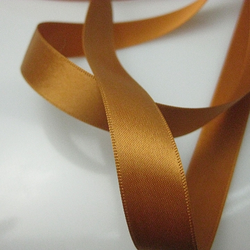 Vintage 30s French ribbon rayon copper gold burnt orange 5/8 inch wide P048