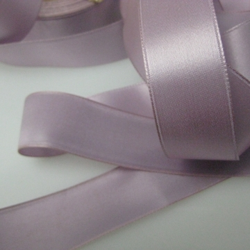 Vintage 30s satin ribbon Rayon fabric ribbon lavender purple 15/16 inch wide P043