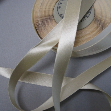 Vintage 30s pewter gray ribbon rayon satin finish 5/8 inch width