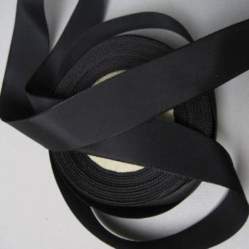Black rayon faille ribbon quality fabric 1 inch width