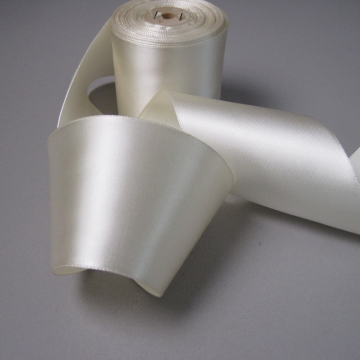 Vintage 30s bridal cream white ribbon rayon satin fabric 3 inch width